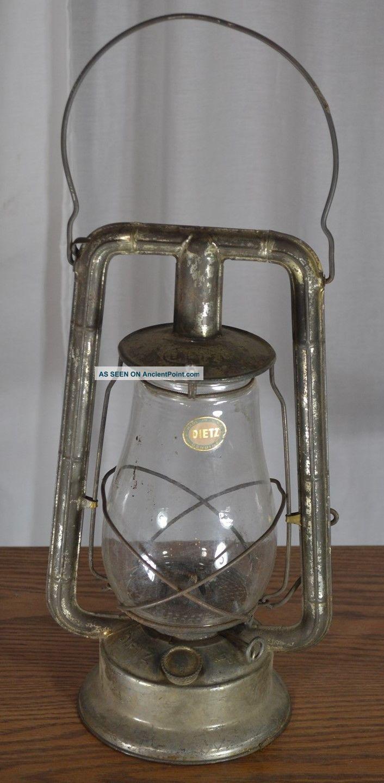 Lantern Dietz Monarch Kerosene Oil Barn Railroad Tubular Vg Antique 1900 Other Antique Home & Hearth photo