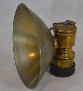 Lamp Lantern Miner Justrite Old Large Reflector Antique photo