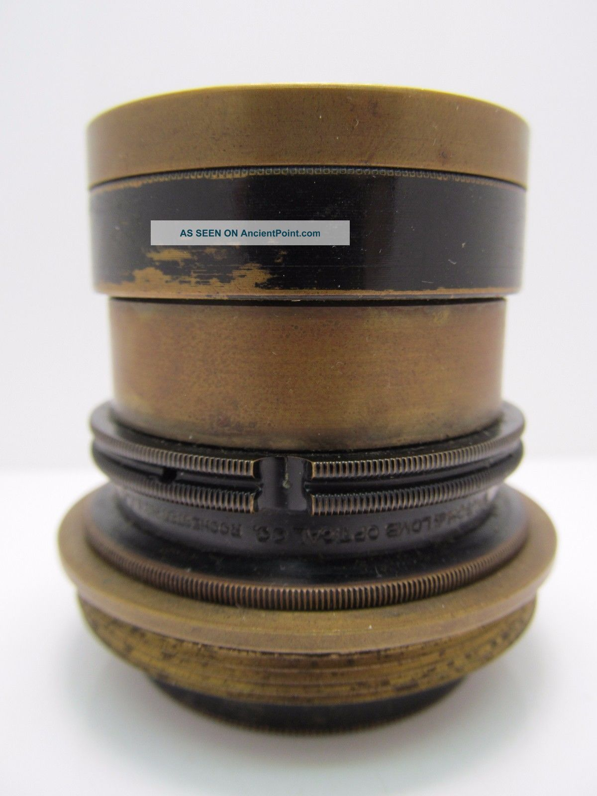 Antique Bausch & Lomb Brass Lens Optic Microscope? Camera? 50mm Unknown Wow Nr Microscopes & Lab Equipment photo