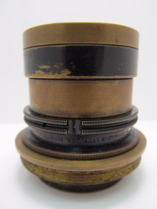Antique Bausch & Lomb Brass Lens Optic Microscope? Camera? 50mm Unknown Wow Nr photo