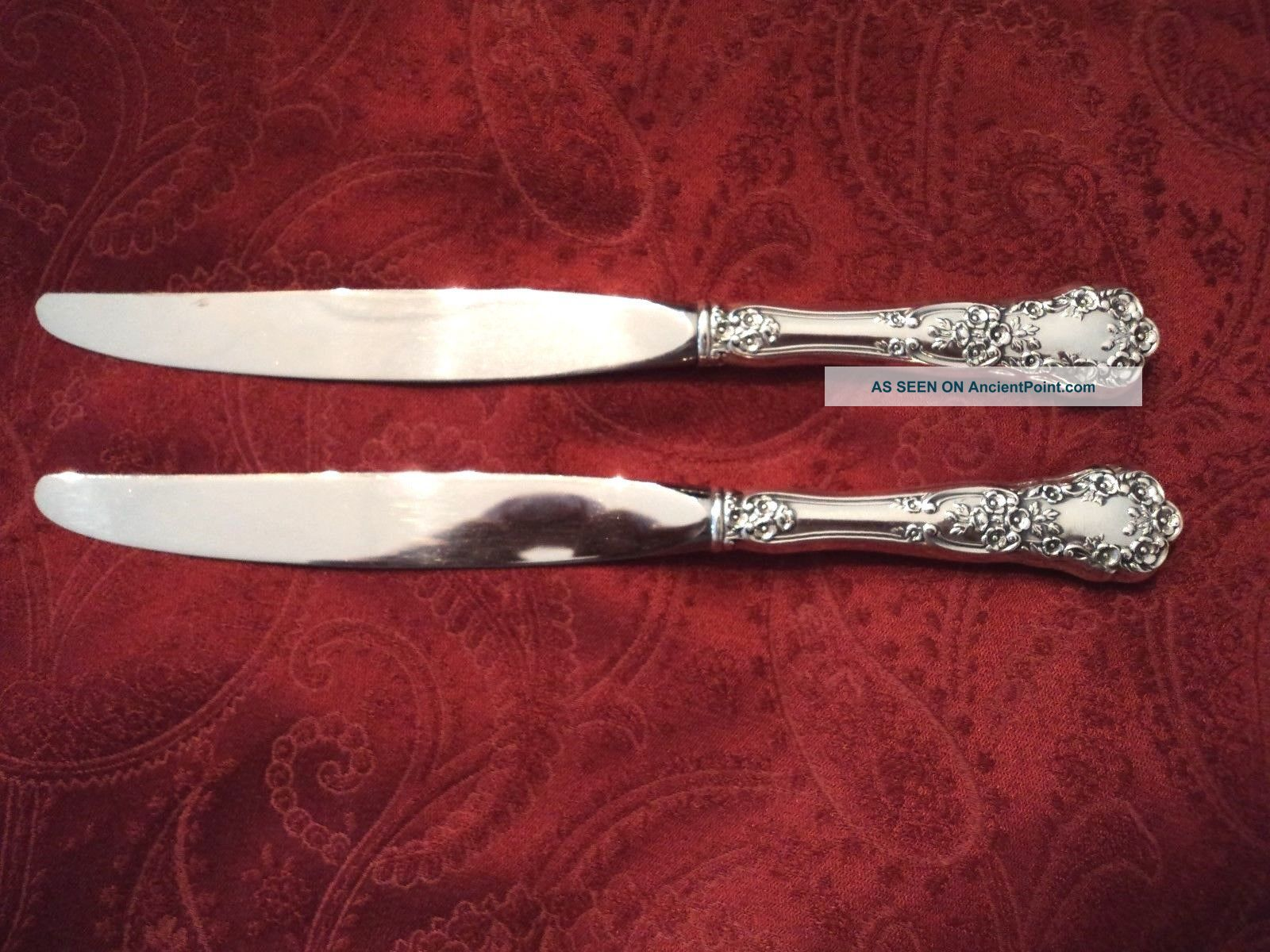 2 - Gorham Buttercup Sterling Hh Dinner Knives 9 1/4