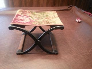 Childs Antique Vintag Iron Folding Chair photo