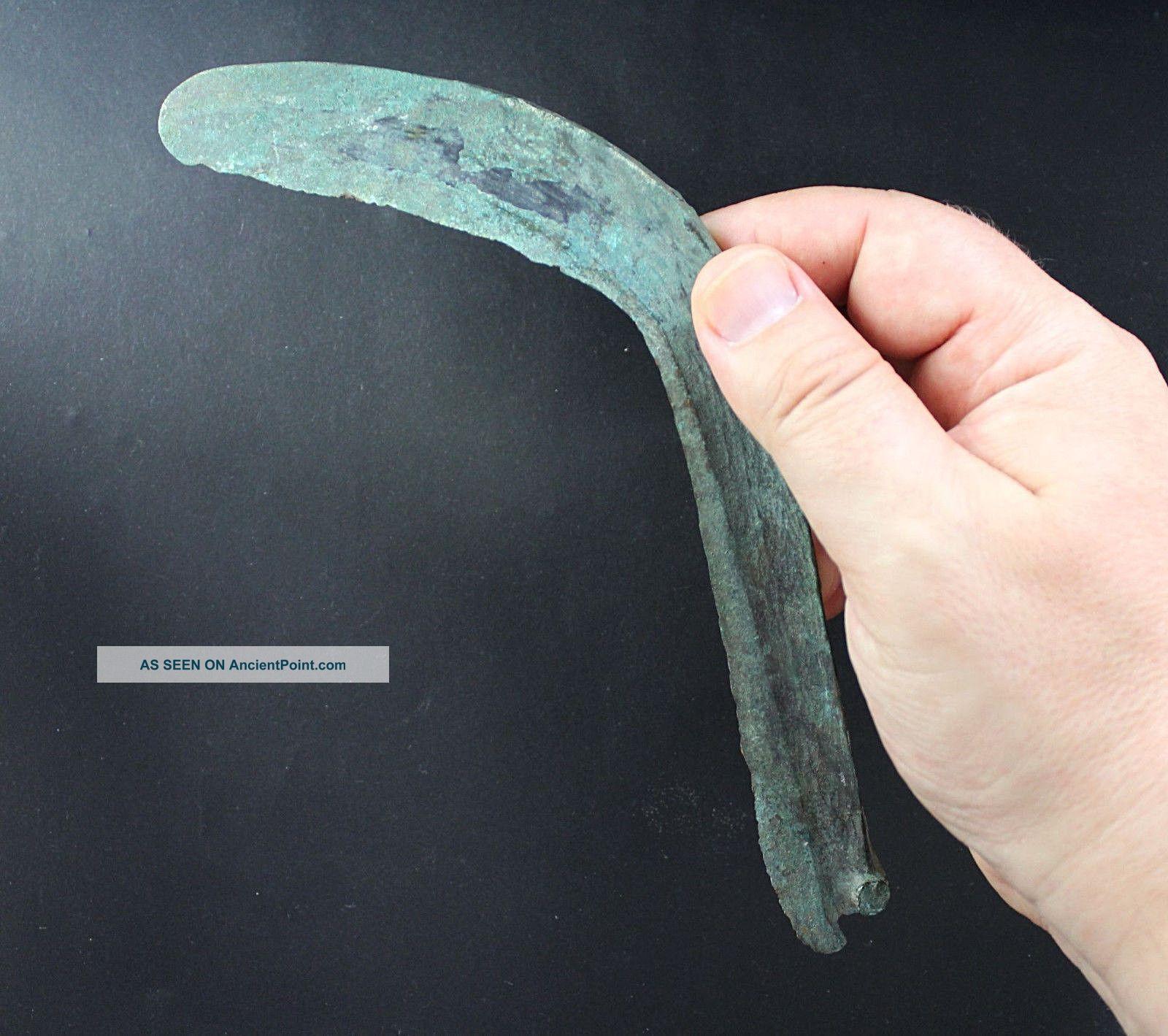 Sickle Or Curved Knife,  Bronze,  Late Bronze Age,  Urnfeld Period,  1000 Bc Greek photo
