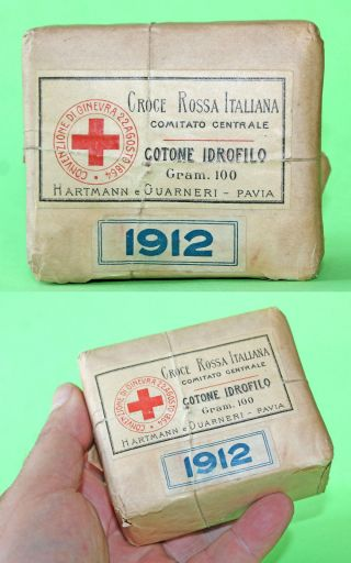 1912 Antique Italian Hartmann & Guarneri Pavia,  Red Cross Bandage photo
