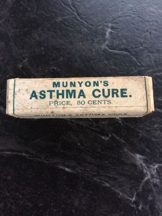Munyon ' S Homeopathic Quackery Asthma Cure Pre 1920 ' S Lg.  50¢ Size Not.  25¢ photo