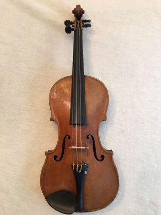 Rare Old Fine Antique 19th C Violin Otto Bausch Label Professional W/ Case Viola photo