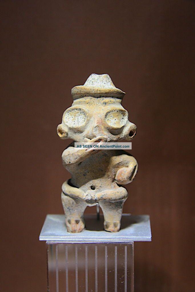 Pre Columbian Ritual Ballplayer Tlatilco Chupicuaro Olmec Figure Ceramic Artefac The Americas photo