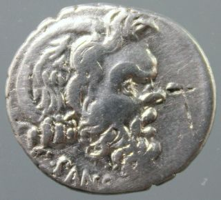 Albinus Bruti F.  And C.  Vibius Pansa,  Silver Denarius,  Pan,  Caduceus,  Rome 48 Bc photo