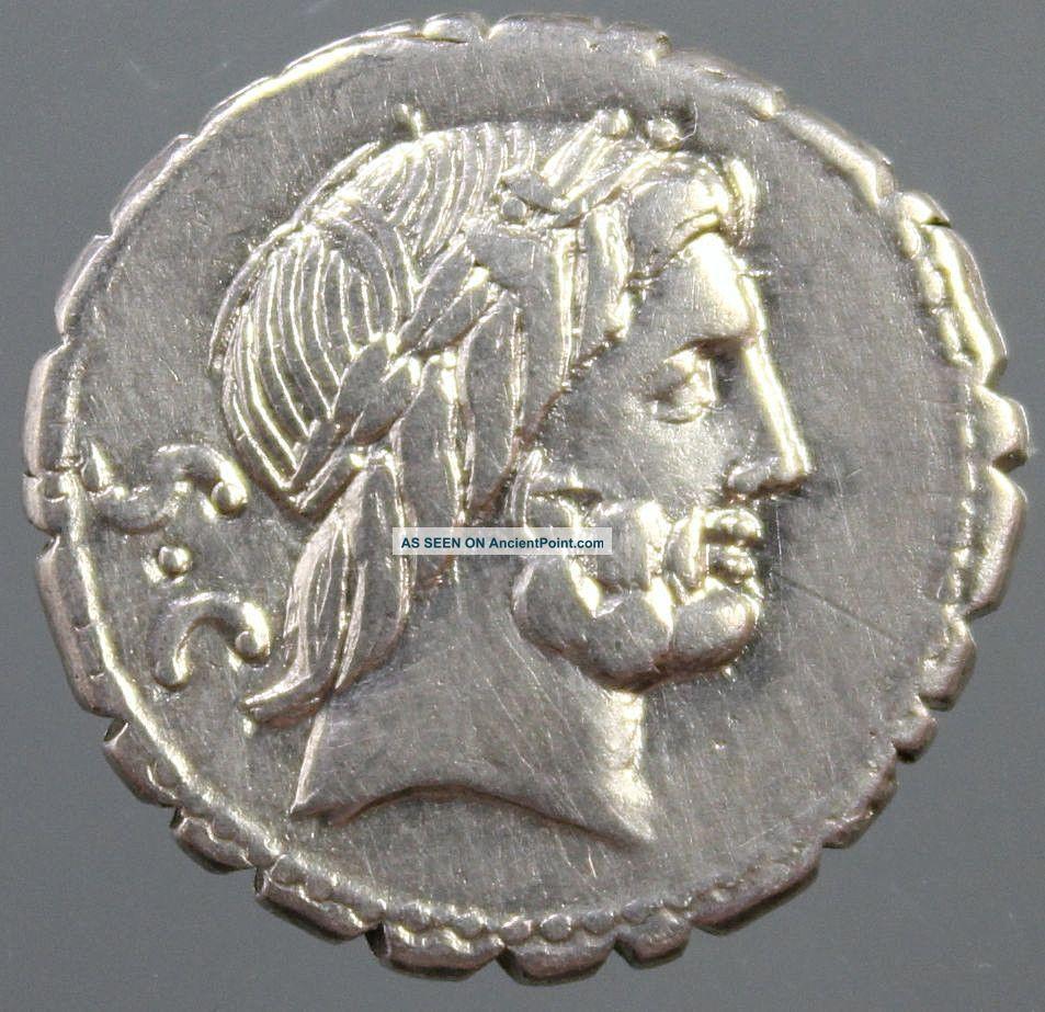 Q.  Antonius Balbus,  Silver Denarius,  Jupiter,  Victory Quadriga,  Horses,  83 - 82 Bc Roman photo