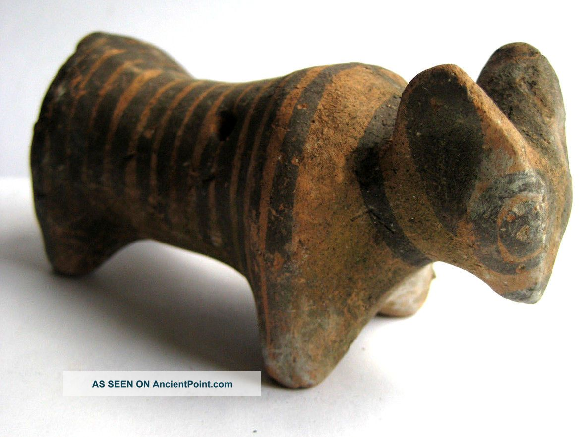 Circa.  1500 B.  C Indus Valley Late Harappan Period Decorative Clay Bull Statue Neolithic & Paleolithic photo