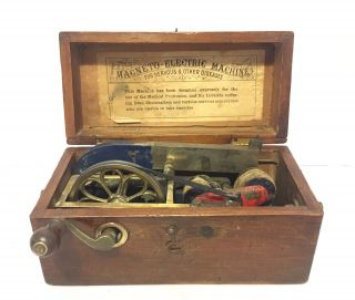 Antique Victorian Magneto Electric Shock Therapy Machine For Nervous Diseases photo
