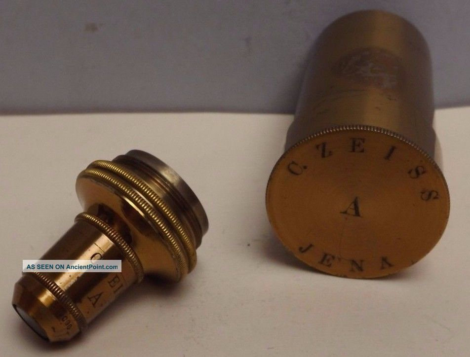 Microscope [ Objective ] Compound { Brass } Canister [ 1 Inch & 2 Inch ] Other Antique Science Equip photo