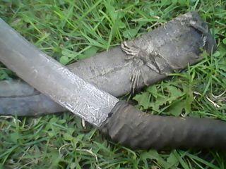 Sudan Calligraphy Script Knife Dagger,  Lizard Sheath Africa photo