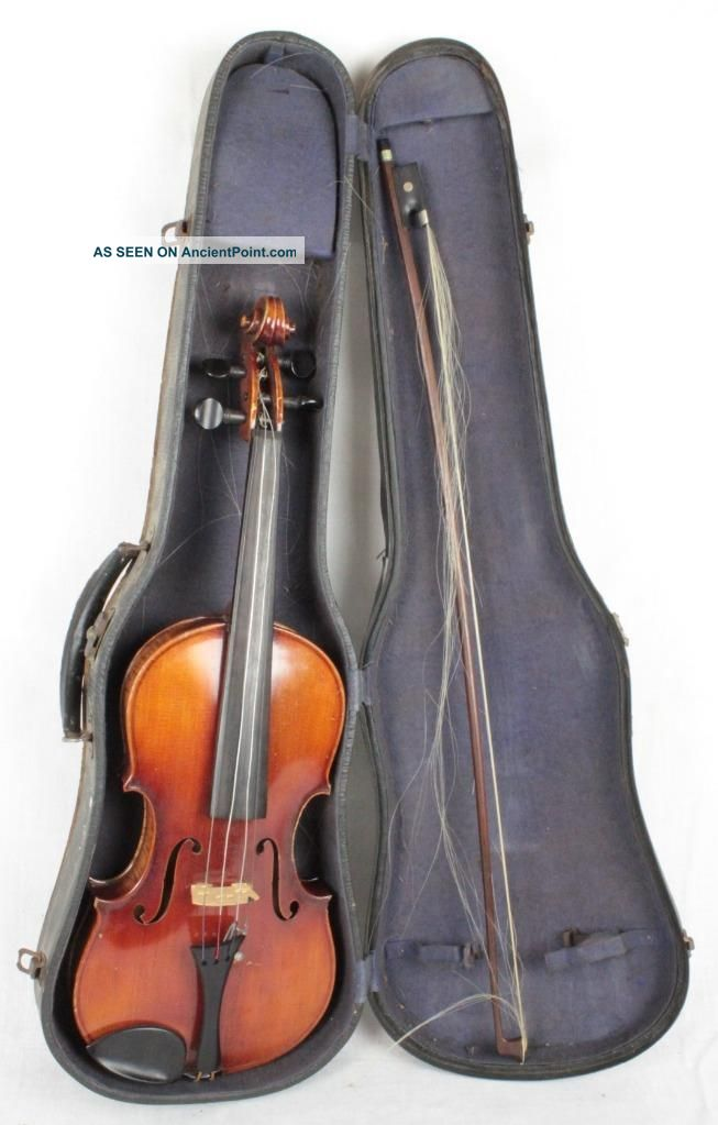 Antique Joseph Guarnerius Model 1742 4/4 Maple Violin W/ Bow And Hard Case String photo