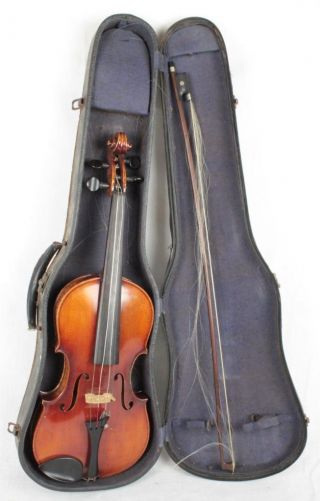 Antique Joseph Guarnerius Model 1742 4/4 Maple Violin W/ Bow And Hard Case photo