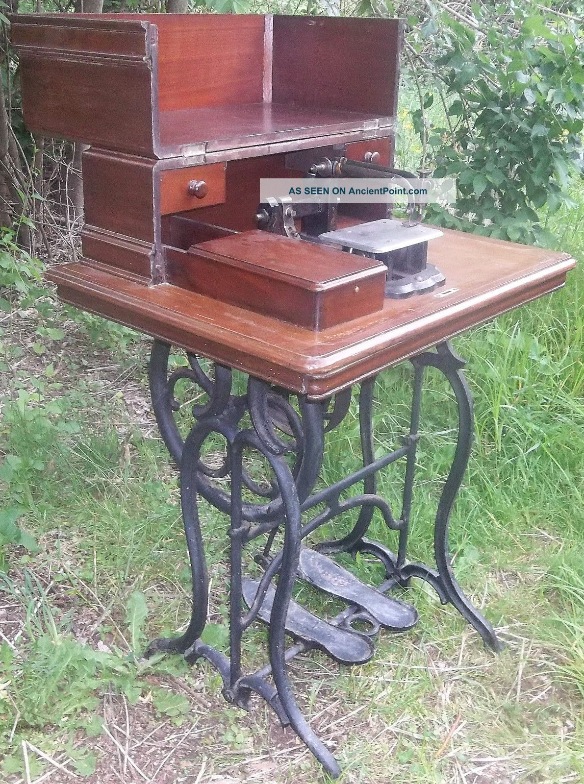 Rare & Unusual Antique 1854 Wheeler & Wilson Treadle Sewing Machine Sewing Machines photo