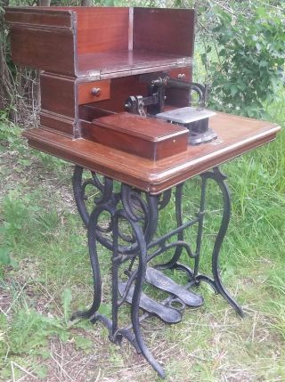 Rare & Unusual Antique 1854 Wheeler & Wilson Treadle Sewing Machine photo