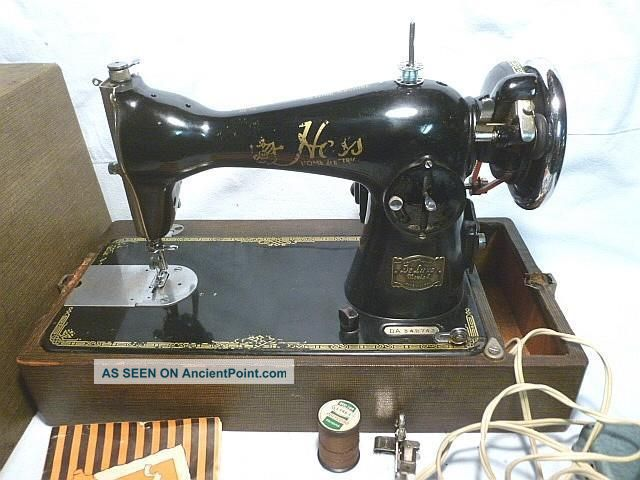 Vintage Hess Home Electric Sewing Machine Made In Japan W/us Motor - Bl Sewing Machines photo