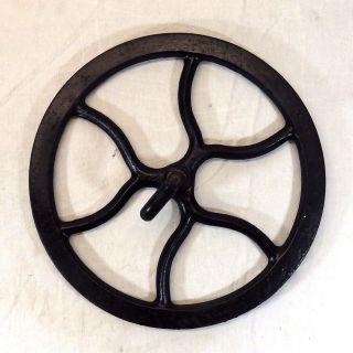 Vintage Singer Sewing Machine Treadle Table Cast Iron Metal Belt Flywheel Black photo