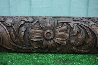 Early 19thc Gothic Wooden Oak Panel Frieze With Intricate Carvings C1820s photo