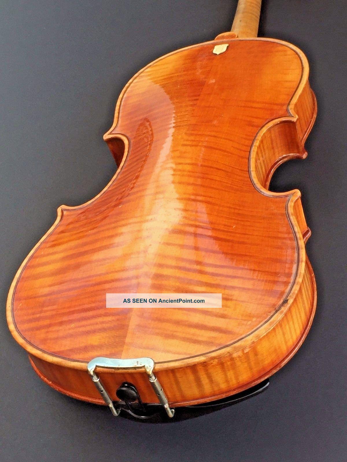 Old 4/4 Violin Flame Back Crest Francesco Ruggieri Detto 1675 Germany String photo