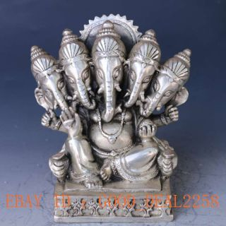 Chinese Silver And Copper Hand - Carved Like Nose Fortuna Statue Gd4040 photo