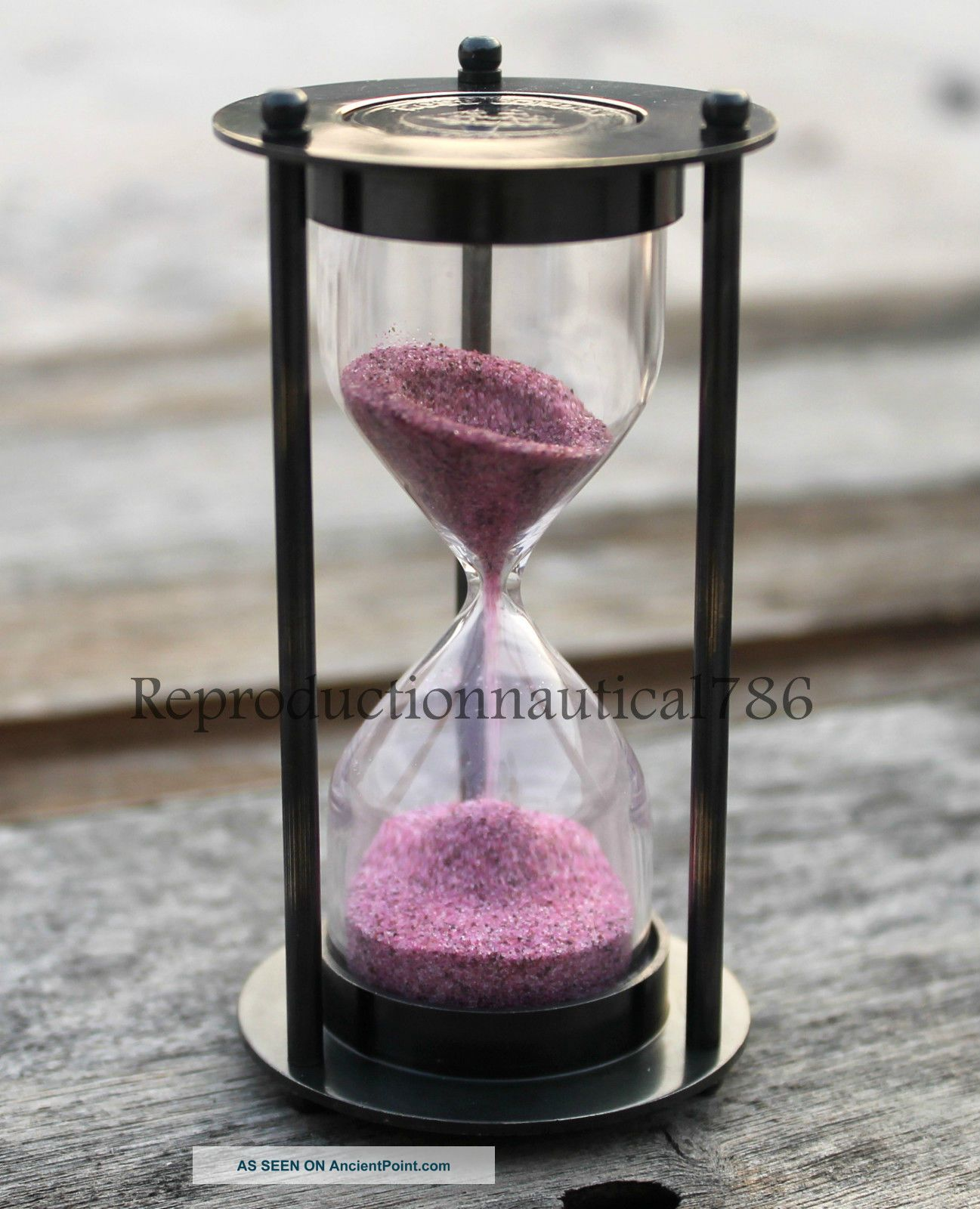 Vintage Antique Hour Glass Sand Timer Maritime Marine Desk Top Decorative Gift Other Maritime Antiques photo
