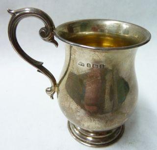 Vintage Solid Silver Tankard Christening Cup Hallmarked 1922 Birmingham - 81g photo
