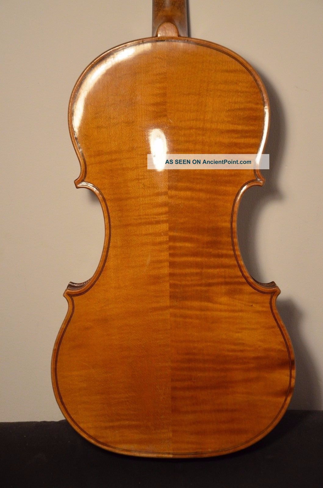 Old French Violin  L.  H.  F.   With Case String photo
