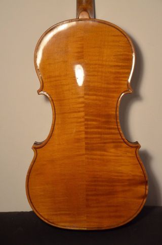 Old French Violin  L.  H.  F.   With Case photo