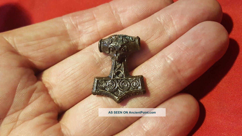 Stunning Viking Bronze Thors Hammer Roman photo