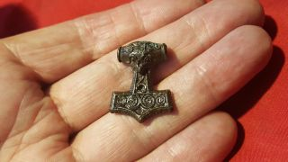 Stunning Viking Bronze Thors Hammer photo