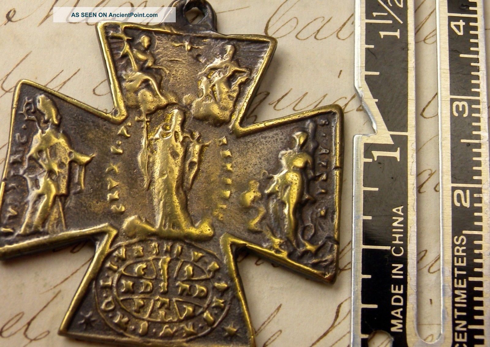 Unique Bronze Cross Of St Ulrich (ulrichkreuz),  Augsburg (germany),  18th Century Near Eastern photo
