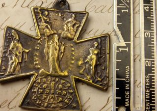 Unique Bronze Cross Of St Ulrich (ulrichkreuz),  Augsburg (germany),  18th Century photo