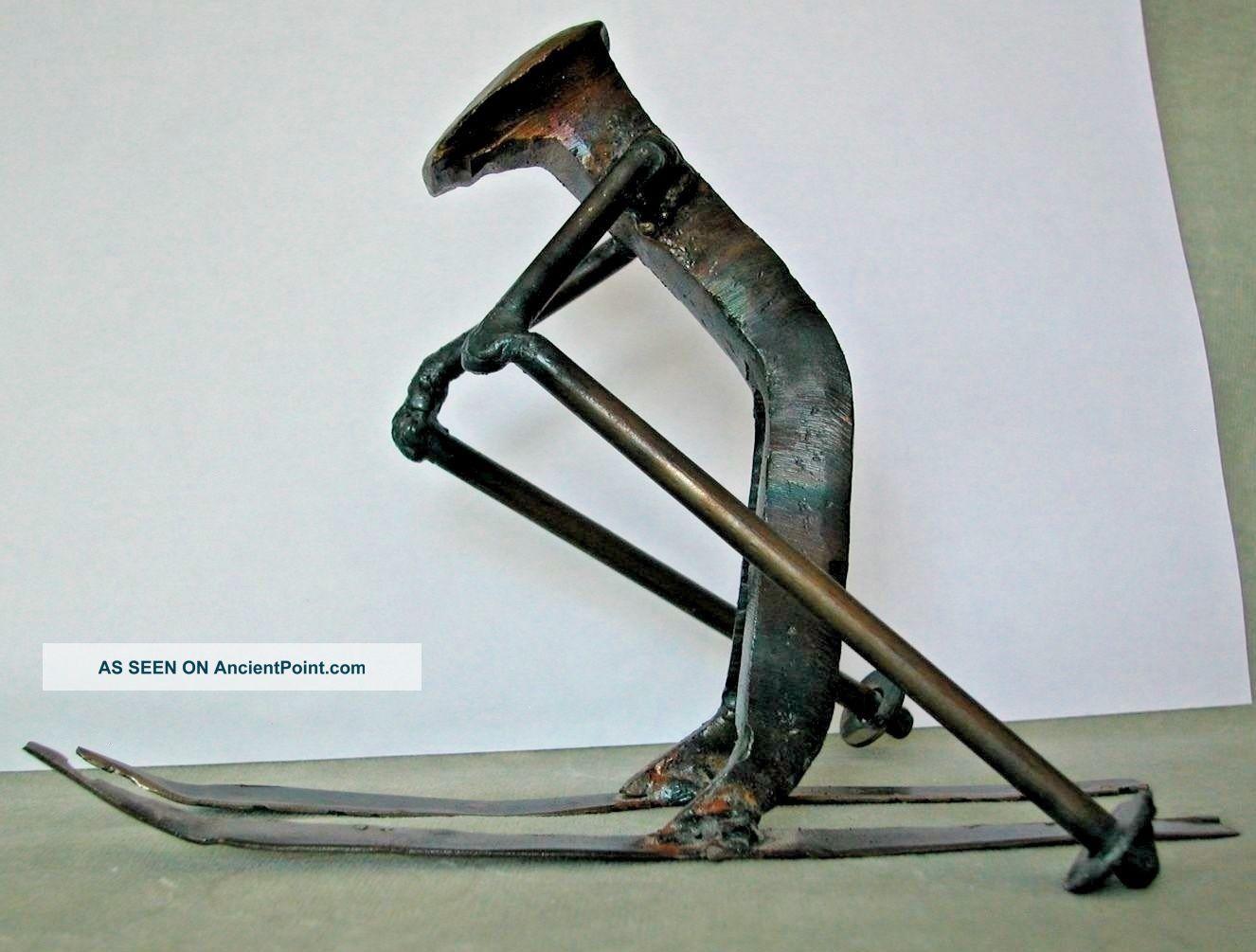 Brutalist Art - Large Railroad Spike Figurine