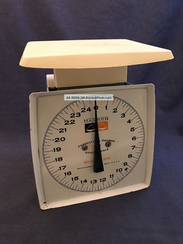 Hanson 25 Lb Capacity Utility Kitchen Scale Vintage Made In Usa Mid Century Scales photo