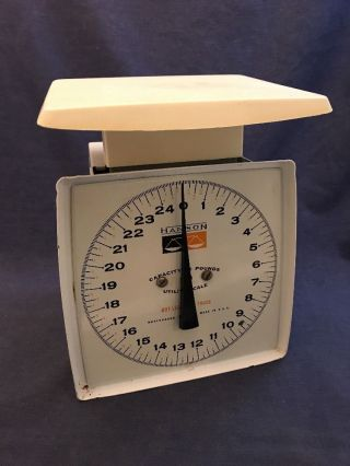 Hanson 25 Lb Capacity Utility Kitchen Scale Vintage Made In Usa Mid Century photo