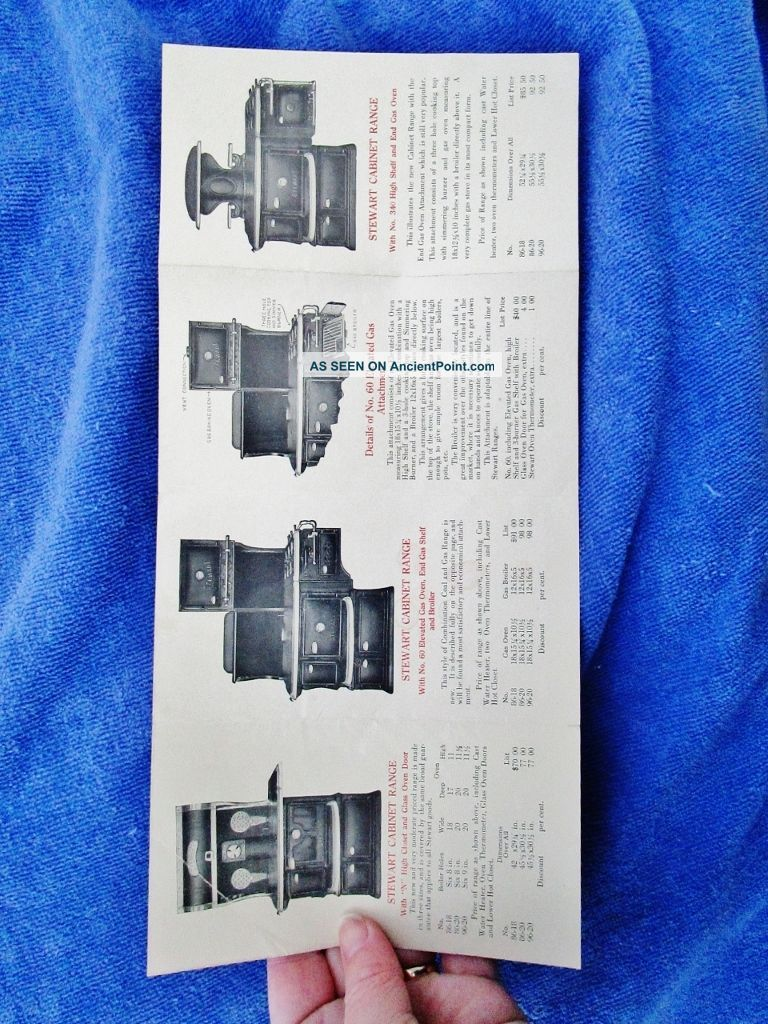 C.  1900 Fuller & Warren,  Troy Ny: Antique Stewart Range Stove Paper Ad Flyer Stoves photo