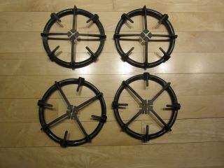 4 Vintage Roper Gas Stove Top Black Burners Grate photo