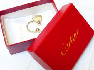 Vintage Sterling Silver Cartier Two Ball Key Ring photo