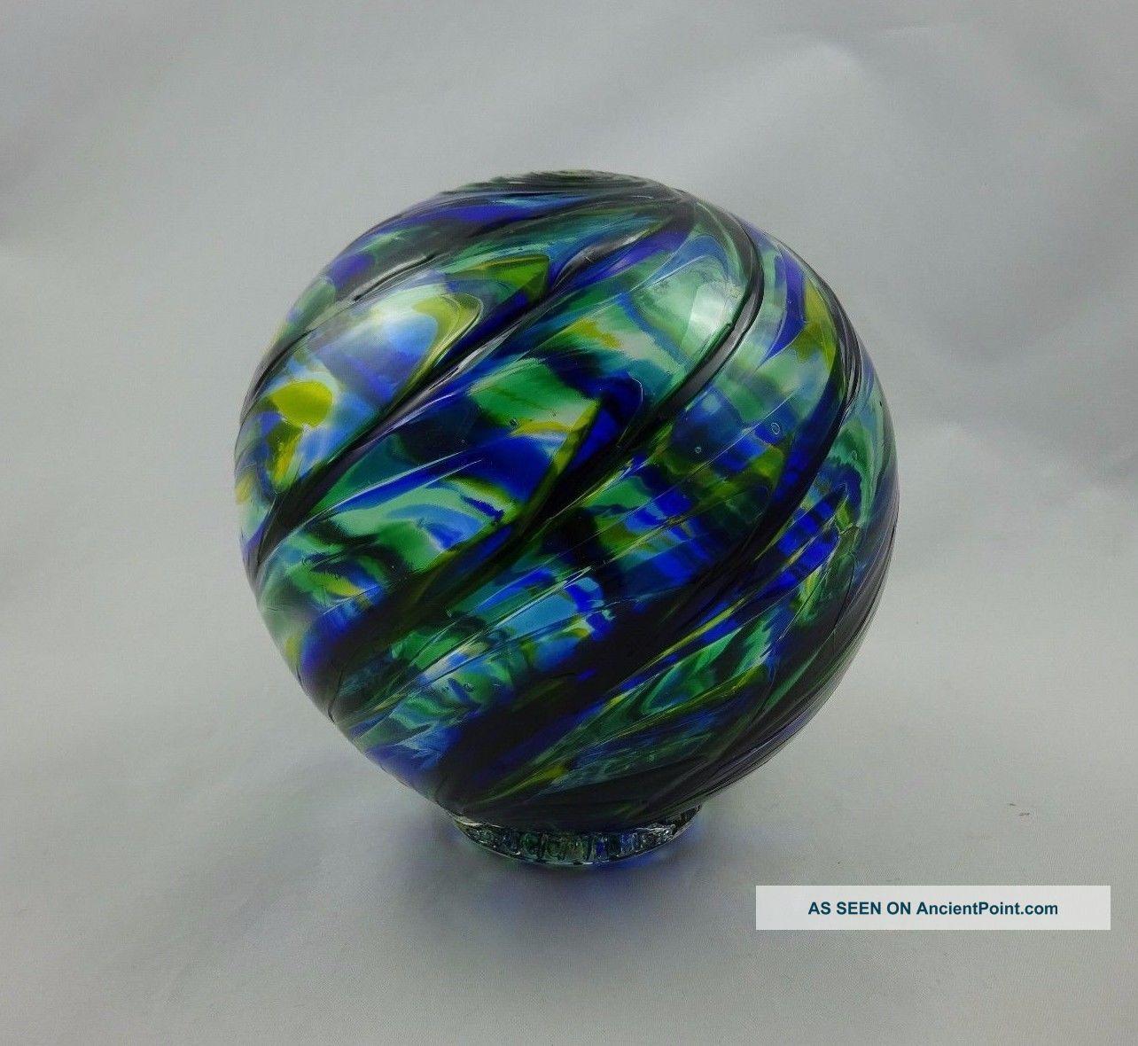 Blue & Green Spiraled 6