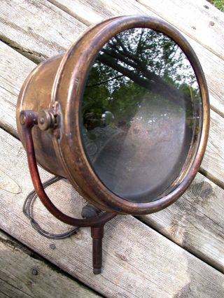 Antique Vintage Dayton Nautical Ship Marine Boat Brass Search Spot Light photo