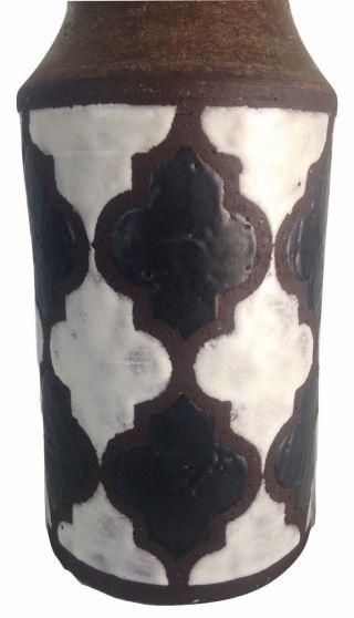Mid Century Italian Italy Pottery Vase Raymor Gambone Fantoni Era photo