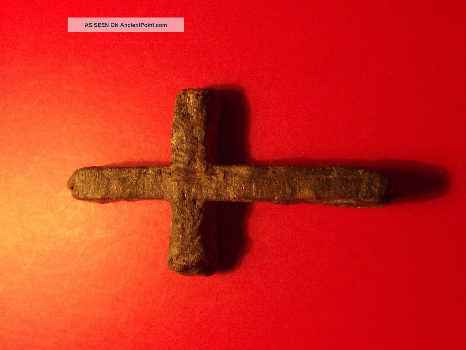 Byzantine Christian Orthodox Cross 12th Century Ad 17,  69 G Green Patina Religion Byzantine photo