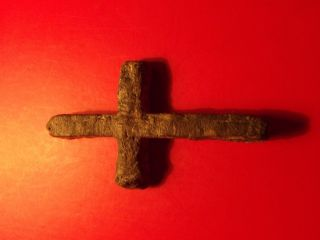 Byzantine Christian Orthodox Cross 12th Century Ad 17,  69 G Green Patina Religion photo