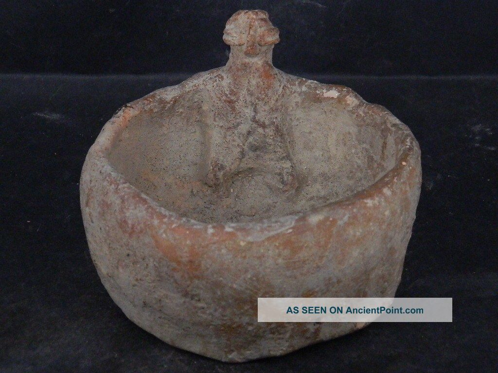 Ancient Large Size Teracotta Pot With Figure Indus Valley 1000 Bc Ik841 Near Eastern photo