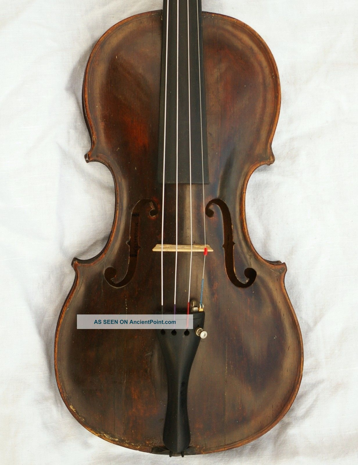 Antique English Violin 18th C.  Grafted Scroll And Ready To Play String photo