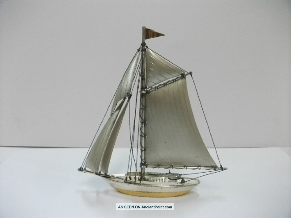 The Sailboat Of Silver Of The Most Wonderful Japan.  59g/ 2.  08.  Japanese Antique Other Antique Sterling Silver photo