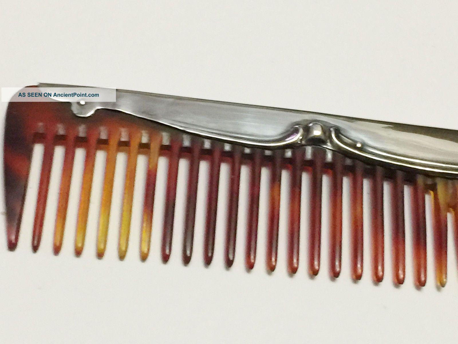 Silver Mounted Comb - Henry Mathews - Birmingham - 1915 Sterling Silver (.925) photo