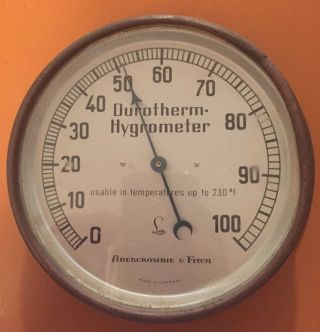 Antique Abercrombie And Fitch Lufft Durotherm Hygrometer Barometer Germany Rare photo